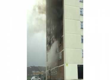 Fire and block of flats