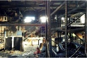 Milton Keynes Factory Fire