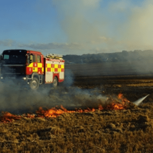 Fire in nearby field