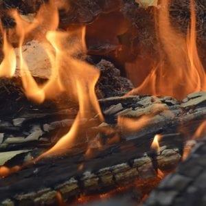 woodburner fire