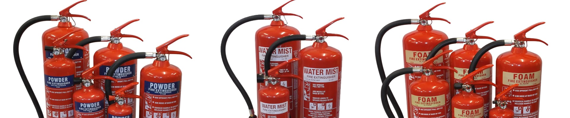 We supply, install and maintain fire extinguishers