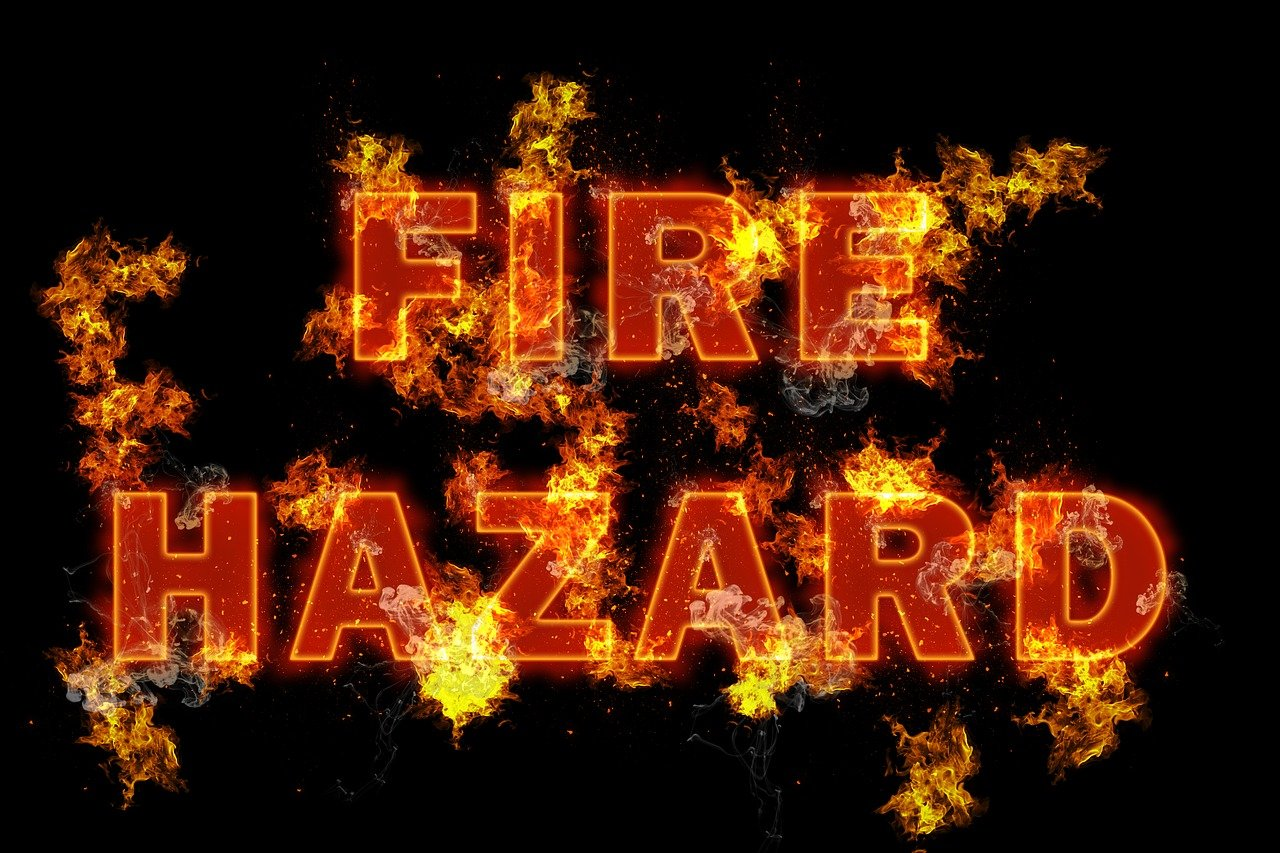 fire hazard text
