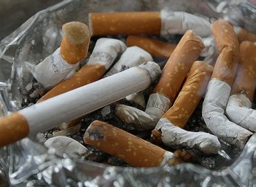 Ashtray With Cigarettes